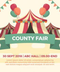 flat county fair tent festival vector illustration county fair flyer template doc