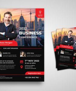 flyer template  business creative conference staff meeting flyer template and sample