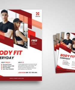 flyer template  gym town service fitness center flyer template pdf