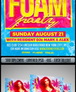 foam party flyer graphics designs & templates from graphicriver foam party flyer template and sample