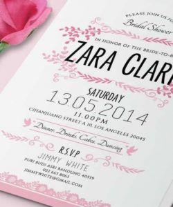 free 12 best baby & bridal shower invitation templates  design bridal shower flyer template doc