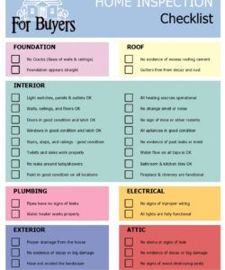 free 20 printable home inspection checklists word pdf ᐅ buying a house checklist template excel