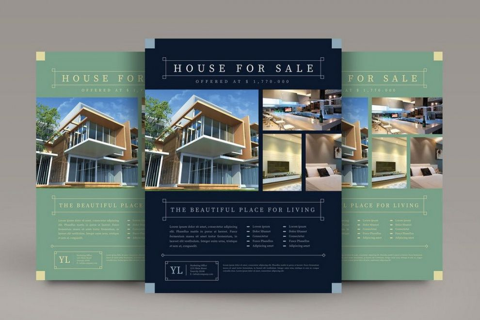 free 30 best real estate flyer templates  design shack luxury real estate flyer template