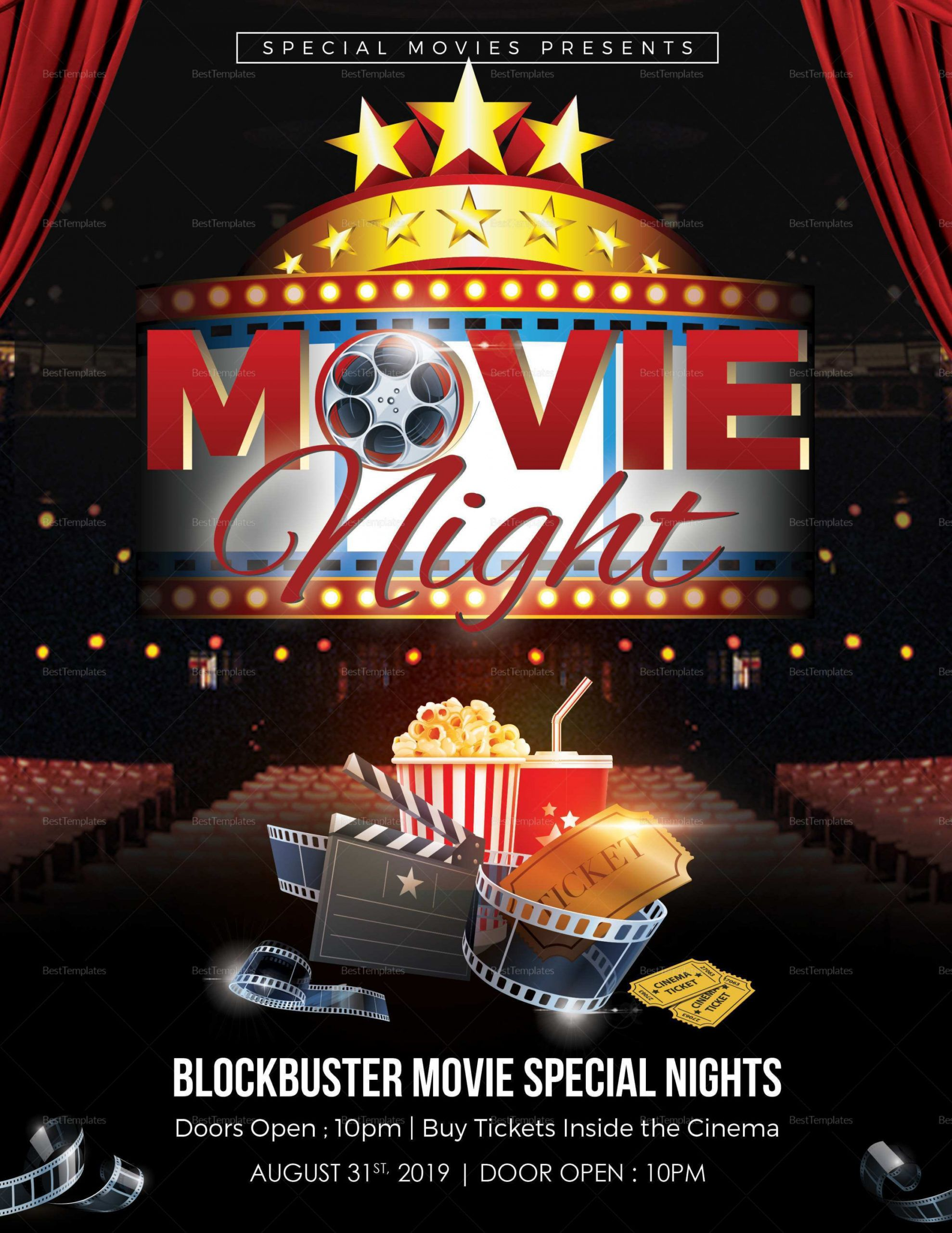free 32 visiting family movie night flyer template photo by church movie night flyer template