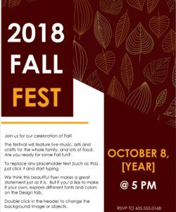 free 45 free poster and flyer templates  clean simple and fall event flyer template pdf