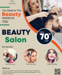 free beauty salon flyer  psddaddy beauty salon flyer template doc