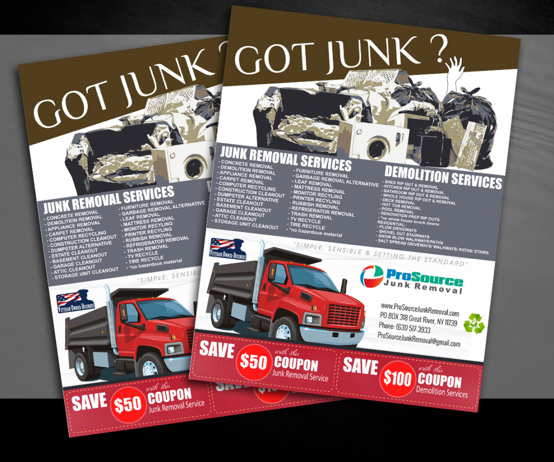 free bold playful junk removal flyer design for a company by junk removal flyer template pdf