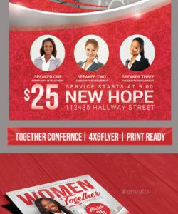 free church event or women's conference flyer template church conference flyer template