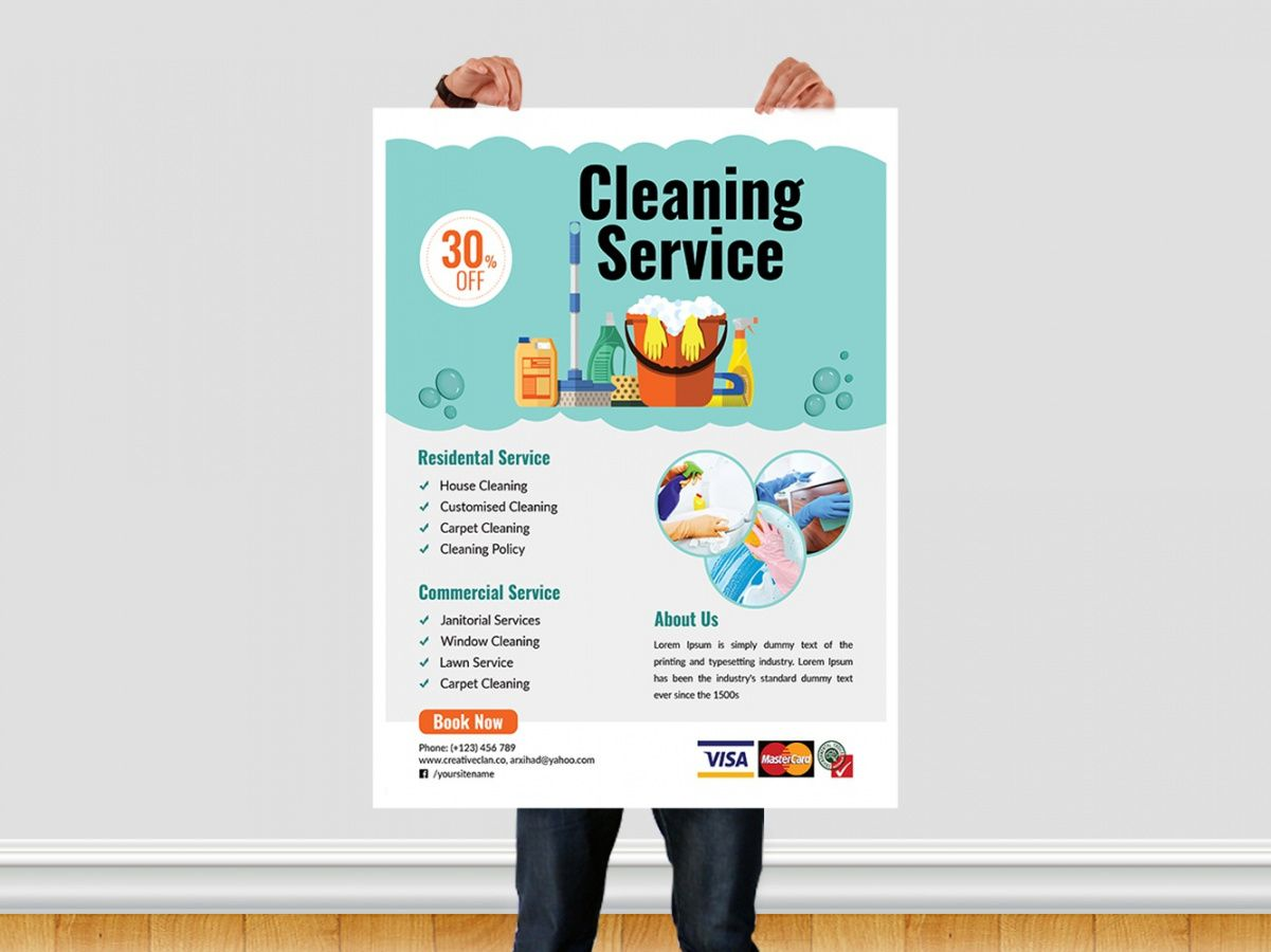 free cleaning service flyer template by ar xihad on dribbble maid service flyer template