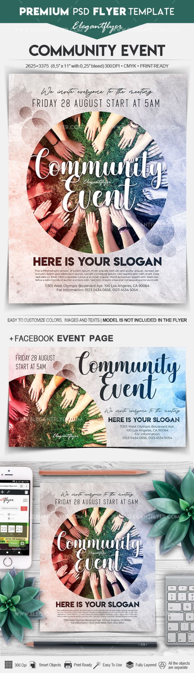 free community event  flyer psd template community event flyer template pdf