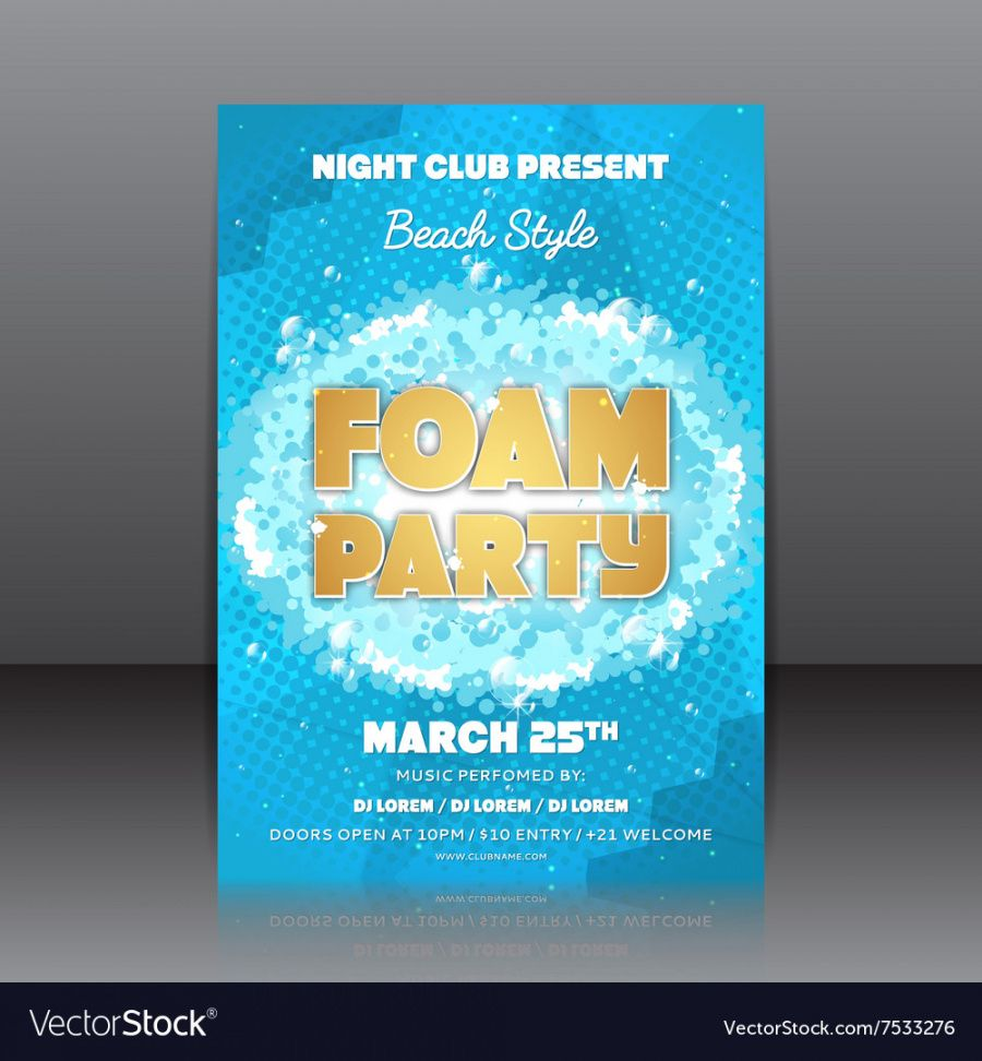 free foam party flyer foam party flyer template pdf