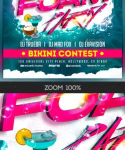free foam party flyer graphics designs & templates from graphicriver foam party flyer template pdf