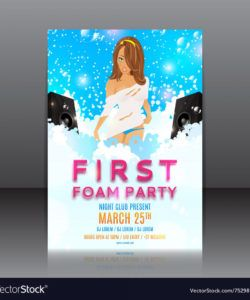 free foam party flyer with beautiful girl foam party flyer template pdf