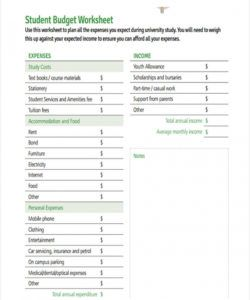 free free 8 student budget forms in pdf  ms word university student budget template sample