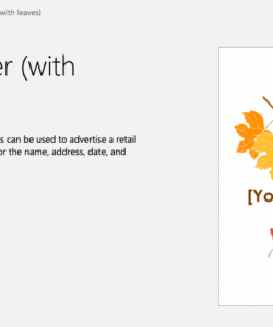 free free autumn theme templates for microsoft office fall event flyer template doc