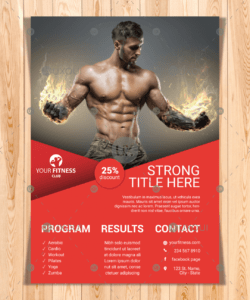free gym & fitness center flyer template design vector with different activities fitness center flyer template and sample