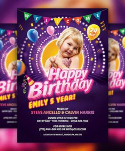 free kids birthday party invitation flyer psd template download birthday celebration flyer template