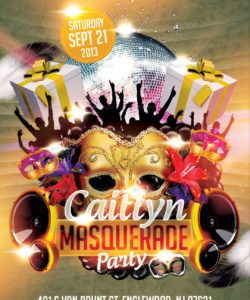 free masquerade birthday party flyer template birthday celebration flyer template and sample
