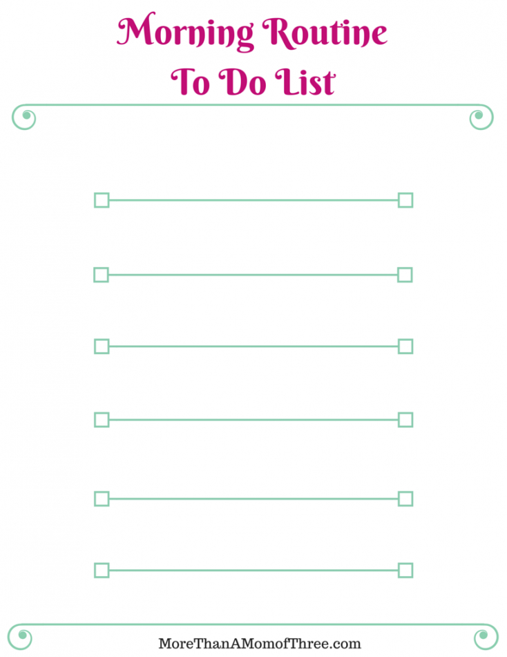 free morning routine  free printable checklist  more than a mom morning routine checklist template pdf