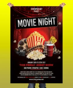 free movie night  free psd flyer template  pixelsdesign service industry night flyer template pdf