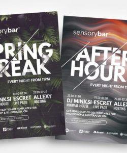 free nightclub flyer template  psd ai & vector  brandpacks service industry night flyer template doc