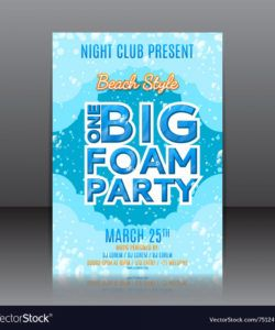 free one big foam party flyer foam party flyer template doc