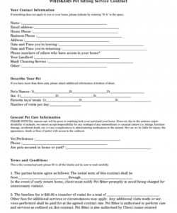 free pet sitter forms  fill out and sign printable pdf template  signnow pet sitter checklist template doc