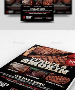 free pork ad stationery and design templates from graphicriver bull roast flyer template