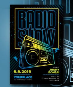 free radio show flyer template by ayumadesign on dribbble radio show flyer template pdf