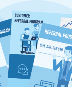 free referral flyer template  berelelevatechrist referral bonus flyer template and sample
