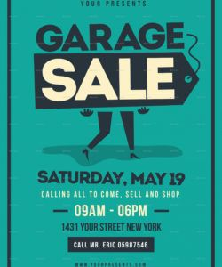 free retro garage sale flyer moving sale flyer template and sample