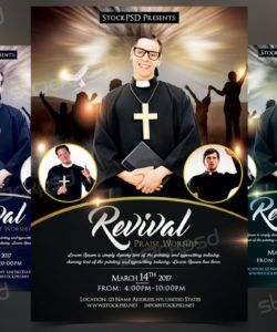 free revival  free church & pastor psd flyer template on behance church revival flyer template doc