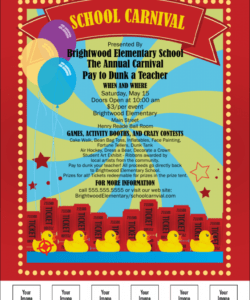 free school carnival flyer carnival themed flyer template and sample