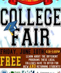 free university park library hosting college fair college fair flyer template doc
