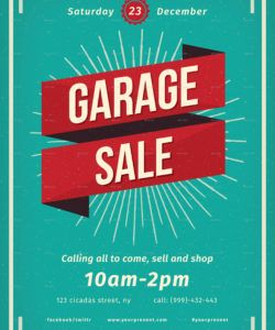 free vintage garage sale flyer moving sale flyer template