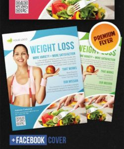 free weight loss  flyer psd template weight loss flyer template