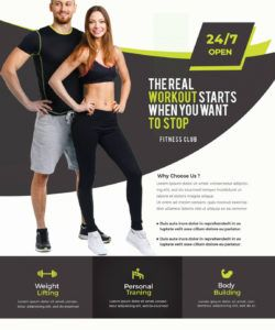 gym and fitness free psd flyer template  stockpsd fitness center flyer template