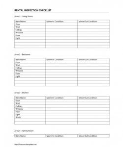home rental inspection checklist template vacation rental checklist template