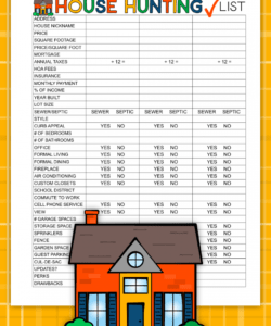 house hunting checklist house hunting checklist template pdf