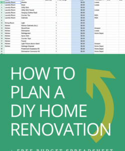 how to plan a diy home renovation  budget spreadsheet house renovation checklist template examples
