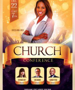 las 31 mejores plantillas de folletos de iglesia plantillas church conference flyer template pdf