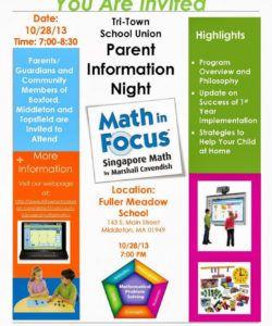 parent flyer templates  europetripsleepco math night flyer template
