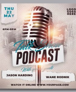 podcast talk show flyer template by hotpin on dribbble radio show flyer template doc