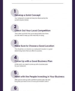 printable 10 checklist for starting up a restaurant  pdf doc excel restaurant side work checklist template