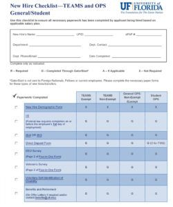 printable 50 useful new hire checklist templates & forms ᐅ templatelab new employee onboarding checklist template excel