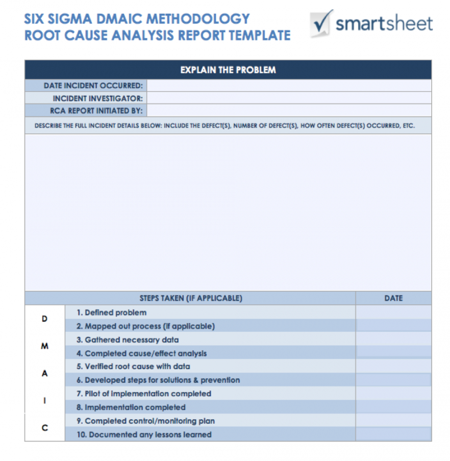 printable 7 free root cause analysis templates & how to use them failure analysis report template pdf