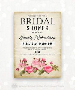 printable bridal shower invitation retro invite shower the bridal shower flyer template doc