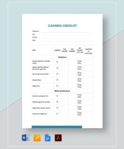printable cleaning checklist template examples church cleaning checklist template excel