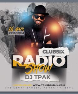 radio show party flyer template by hotpin on dribbble radio show flyer template