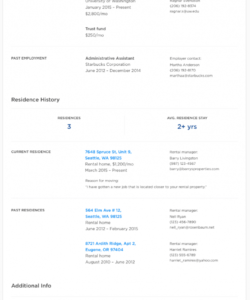 rental application form free rental application  zillow vacation rental checklist template samples